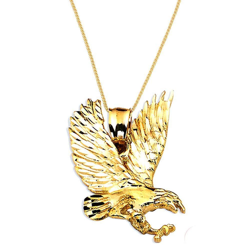 gold eagle pendant necklace