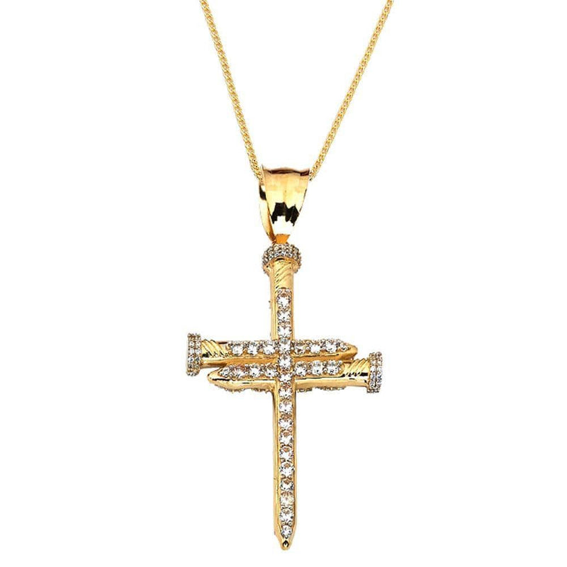 10K Yellow Gold 8.00 Grams Cross Fashion Pendent - Jawa Jewelers