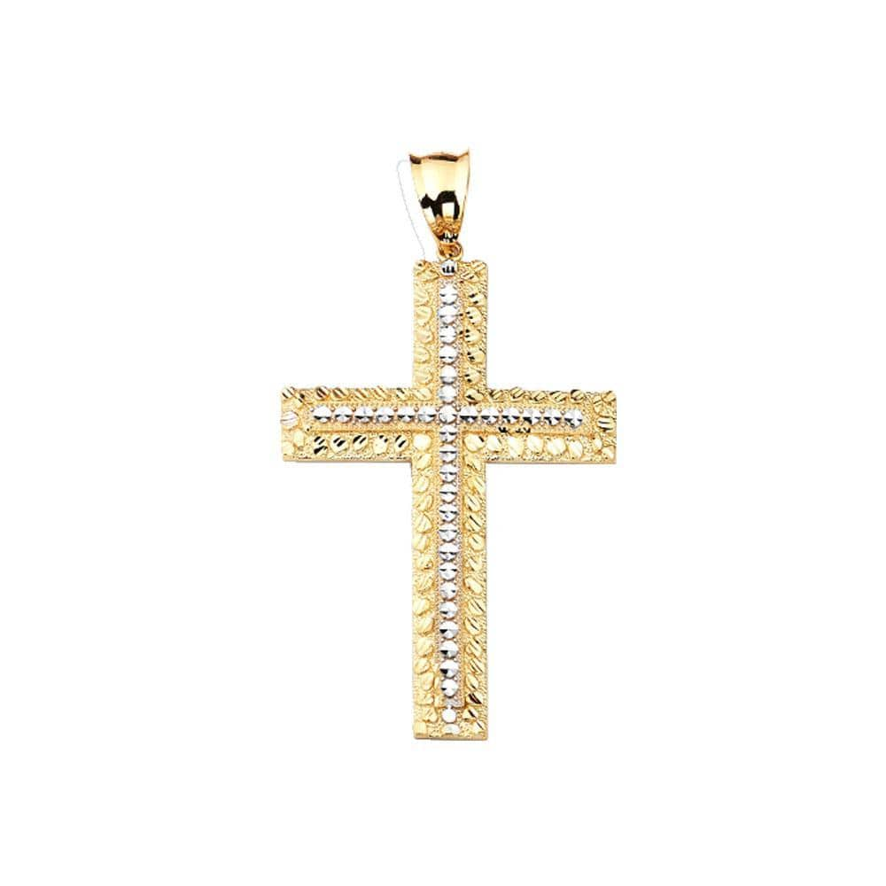 10K Yellow Gold 7.80 Grams Fashion Gold Cross Pendent - Jawa Jewelers