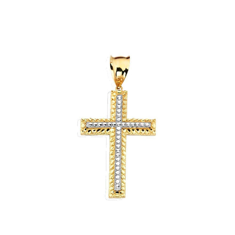 gold cross pendant necklace