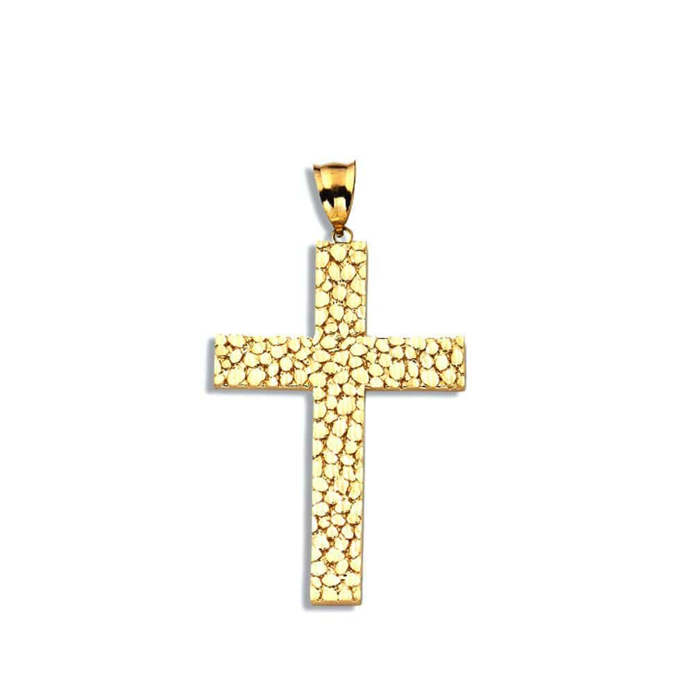 10K Yellow Gold 9.50 Grams Cross Fashion Pendent - Jawa Jewelers