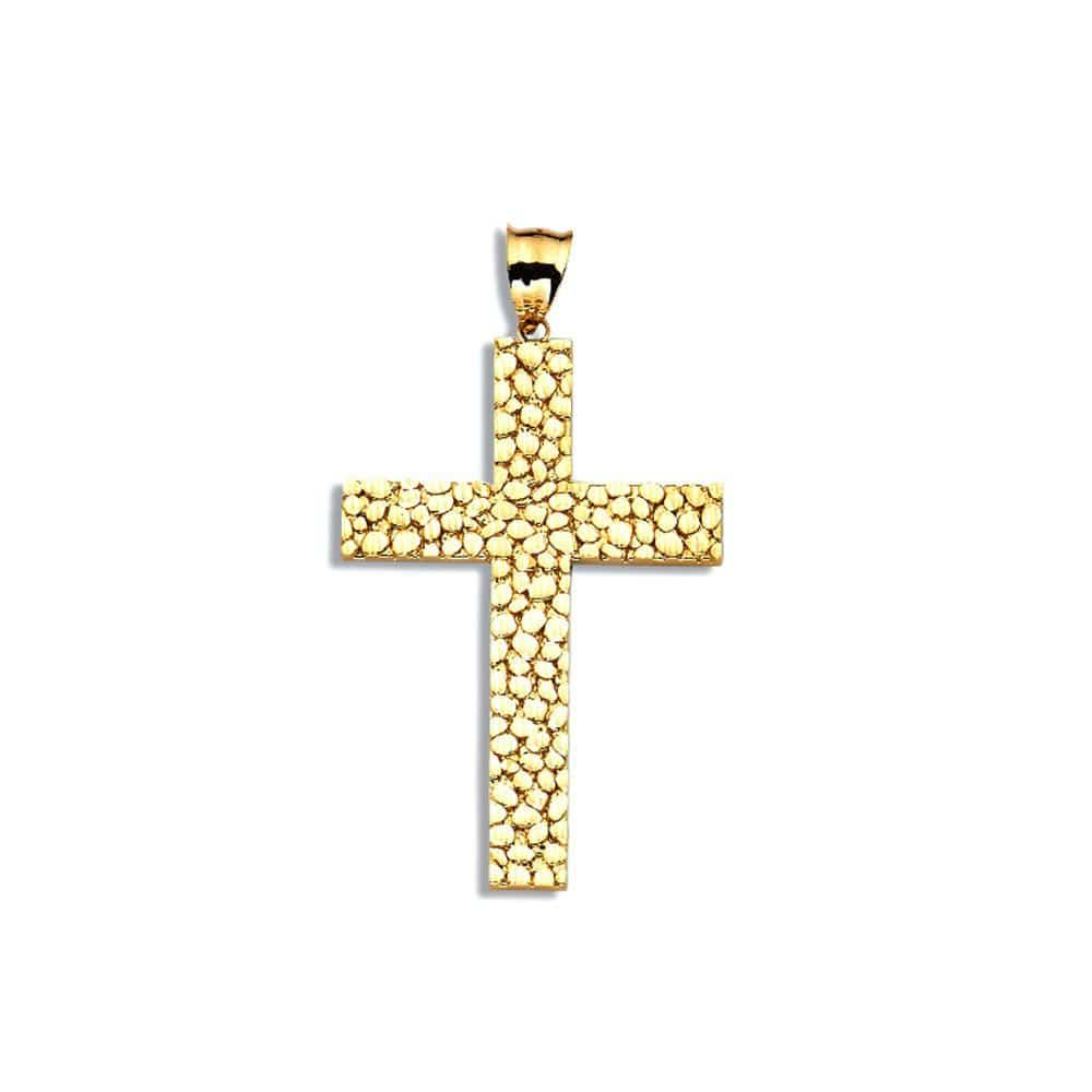 10K Yellow Gold 9.60 Grams Cross Fashion Pendent - Jawa Jewelers