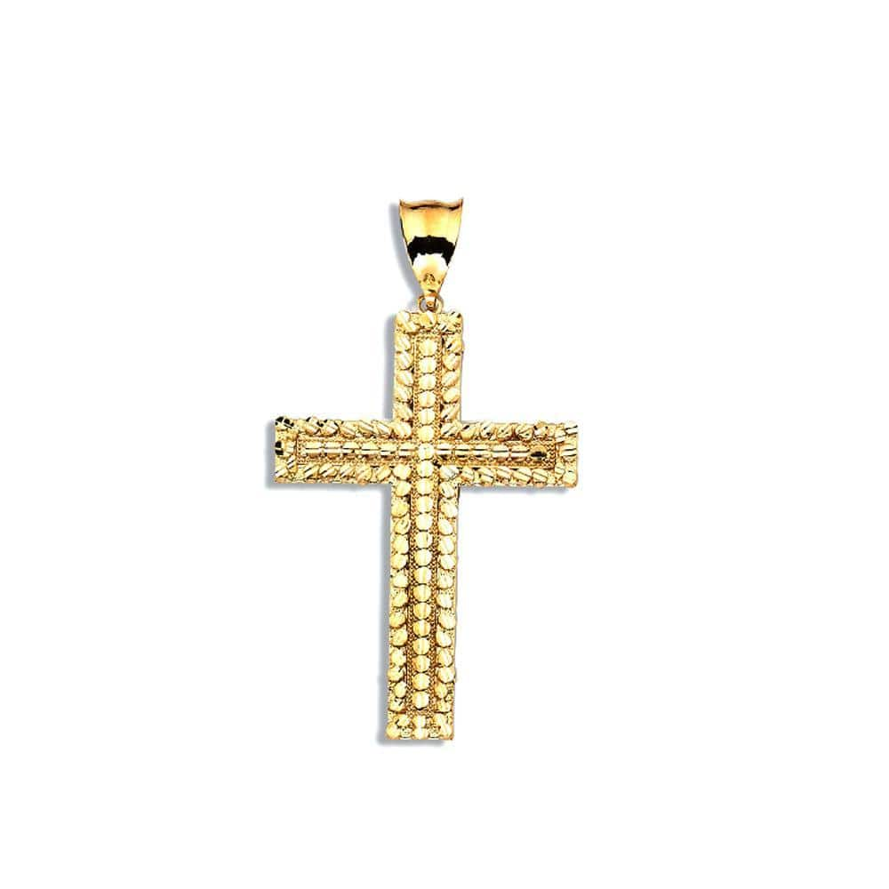 10K Yellow Gold Chopard Cross 4.50 Grams Fashion Pendent - Jawa Jewelers