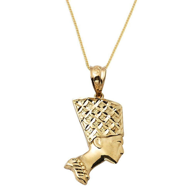 yellow gold pendant necklace