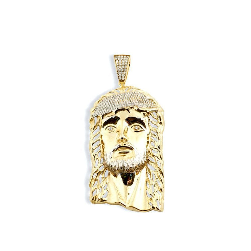 10K Yellow Gold 40.70 Grams Fashion Jesus Face Pendant - Jawa Jewelers