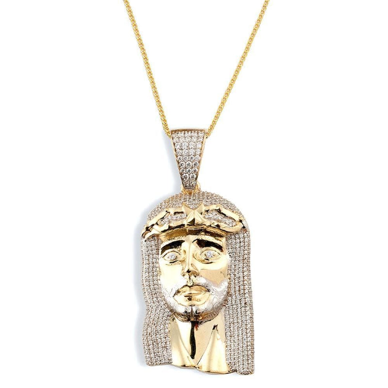 10K Yellow Gold 24.70 Grams Fashion Jesus Face Pendant - Jawa Jewelers
