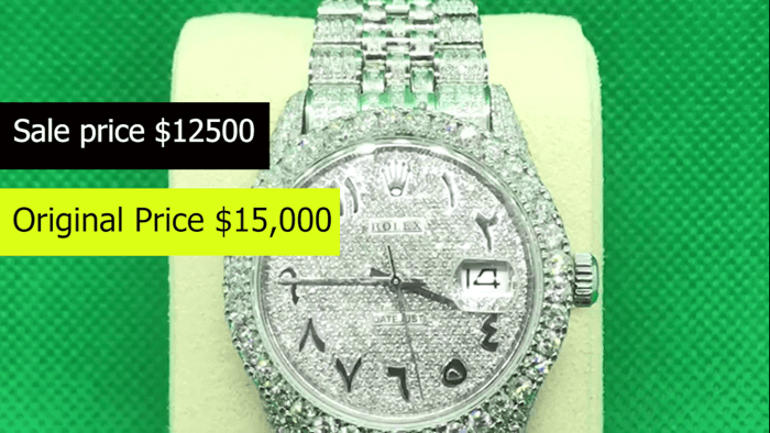Diamond Rolex Arabic Numeric 36MM Watch