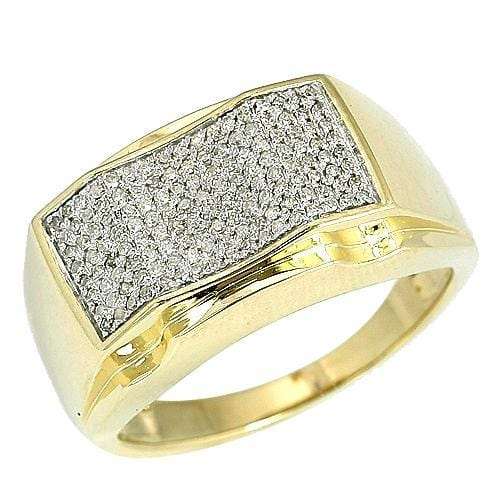 10K Gold 0.50CTW Micro Pave Diamond Mens Ring Size 10, Ring, JJ-AG, Jawa Jewelers