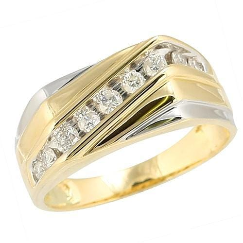 14K Gold 0.50CTW Diamond Men's Ring Size 10, Ring, JJ-AG, Jawa Jewelers