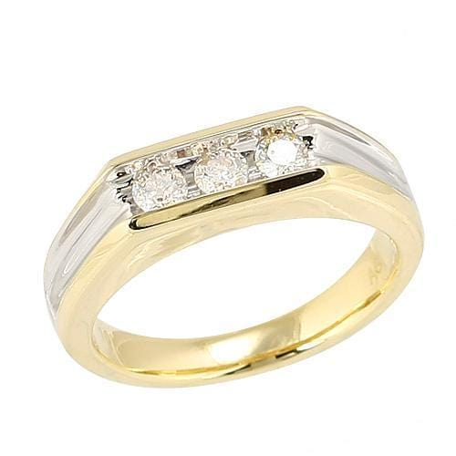 10K Gold 0.50ctw Diamond Solitarie Mens Ring Size 10 - Jawa Jewelers