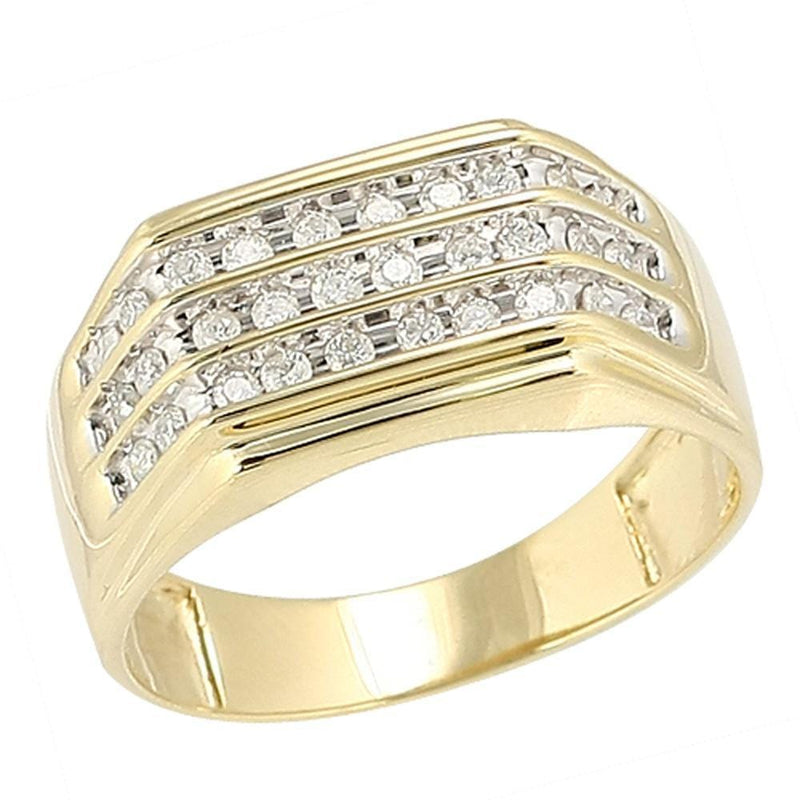 10K Gold 0.50CTW Diamond Mens Ring Size 10 - Jawa Jewelers