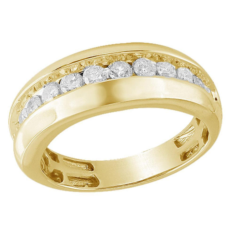 14K Yellow Gold 1.00ctw Diamond Mens ring Size 10, Ring, JJ-AG, Jawa Jewelers
