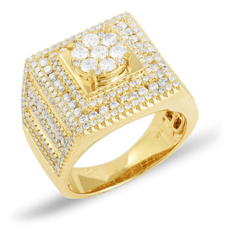 14K Yellow Gold 2.50CTW Diamond Men's Ring Size 10, Ring, JJ-AG, Jawa Jewelers