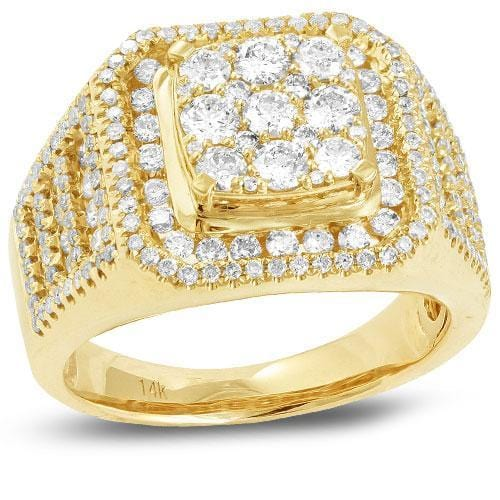 14K Gold 2.65CTW Diamond Men's Ring Size 10, Ring, JJ-AG, Jawa Jewelers