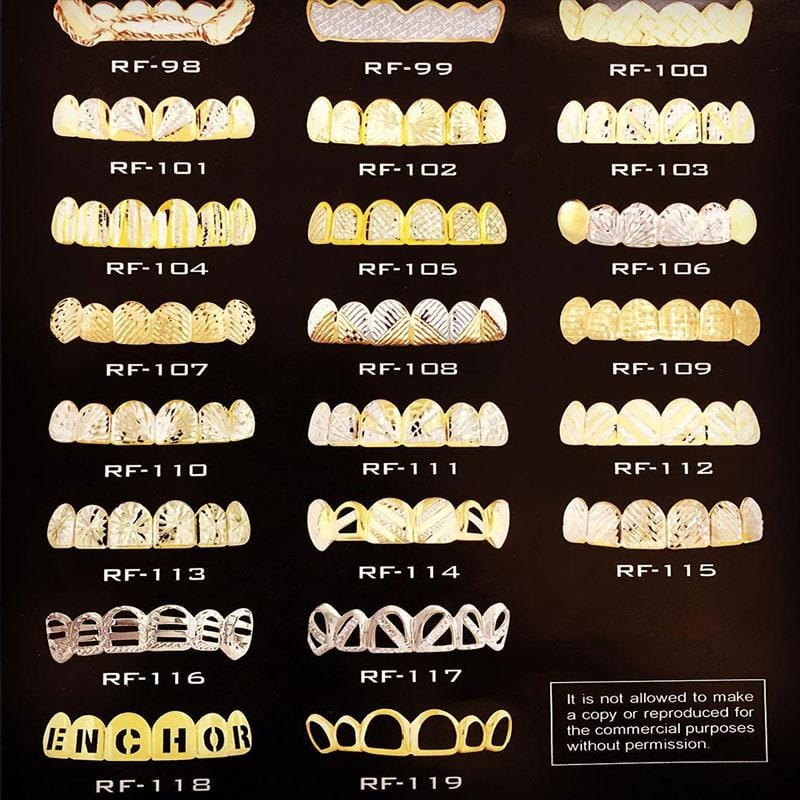 10K Solid Gold Grillz Fronts