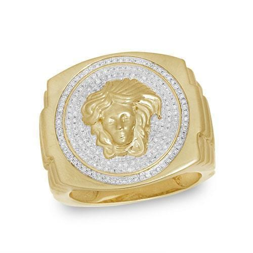 10K Gold 0.50CTW Diamond Men's Ring Size 10