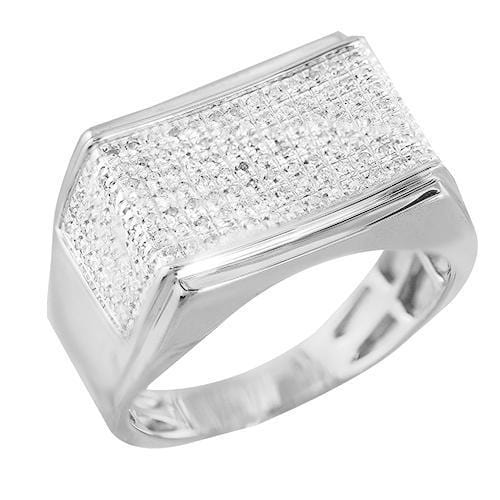 10K Gold 0.30CTW Diamond Micro Pave Mens Ring Size 10, Ring, JJ-AG, Jawa Jewelers