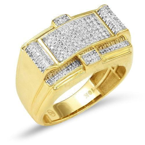 10K Gold 0.50CTW Diamond Mens Ring Size 10, Ring, JJ-AG, Jawa Jewelers
