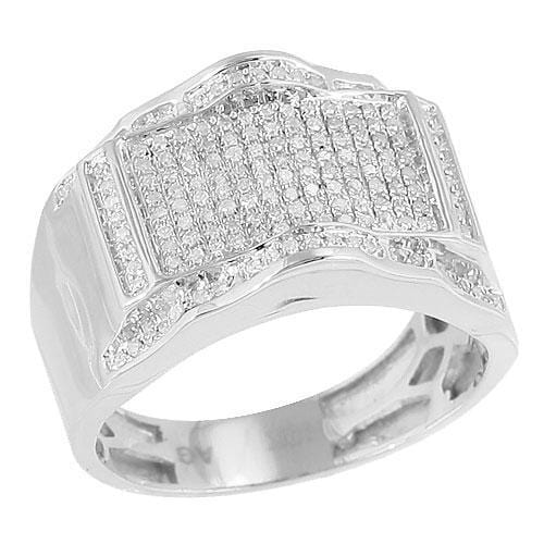 10K Gold 0.50 CTW Micro Pave Diamond Mens Ring Size 10, Ring, JJ-AG, Jawa Jewelers