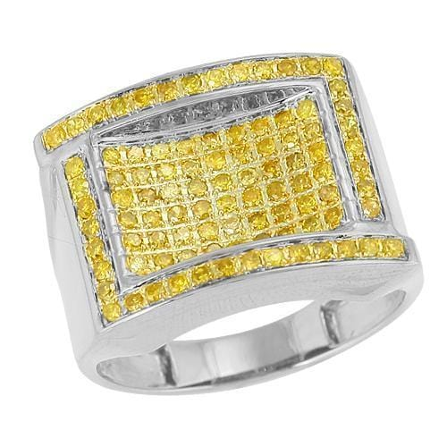 10K 1.00ctw Yellow Diamond Mens Ring Size 10, Ring, JJ-AG, Jawa Jewelers