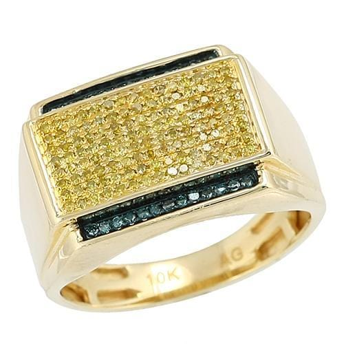 10K Yellow Gold Micro Pave 0.50CT Diamond Ring - Jawa Jewelers