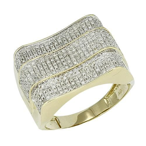 10K Gold 0.65CTW Diamond Mens Ring Size 10, Ring, JJ-AG, Jawa Jewelers