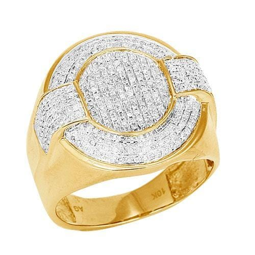 10K Gold 0.75CTW Diamond Men's Ring Size 10 - Jawa Jewelers