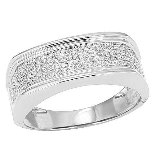 Mens 10K 0.35ctw Micro Pave Diamond Ring Size 10, Ring, JJ-AG, Jawa Jewelers