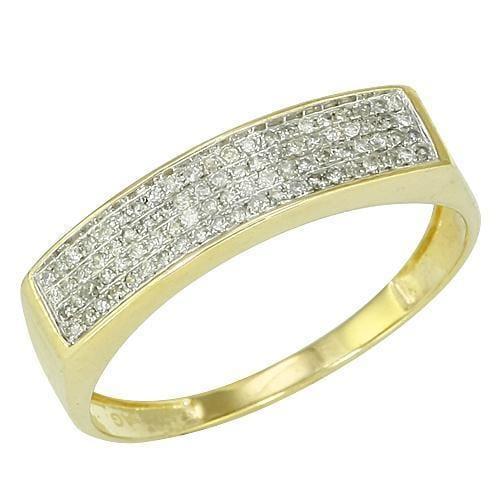 10K Gold 0.25CTW Micro Pave Diamond Mens Ring Size 10, Ring, JJ-AG, Jawa Jewelers