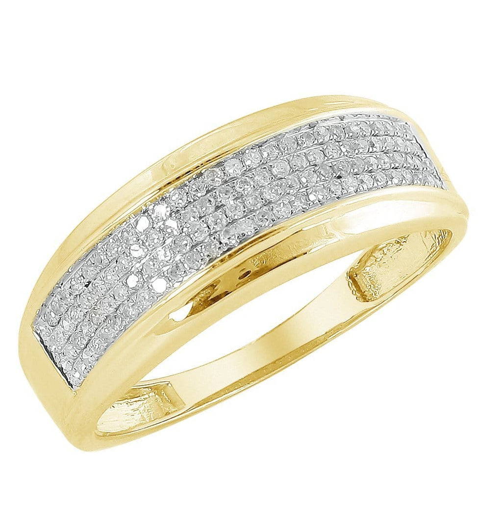 10K Yellow Gold 0.50ctw Diamond Men's Band size 10, Ring, JJ-AG, Jawa Jewelers