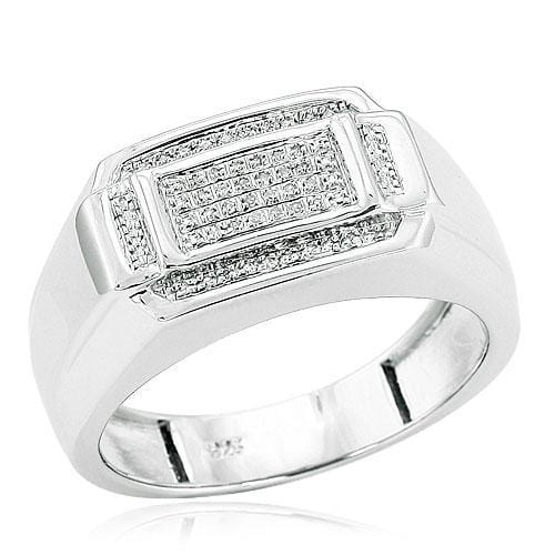 SS 0.10ctw Diamond Sterling Silver Men's Ring, Ring, JJ-AG, Jawa Jewelers