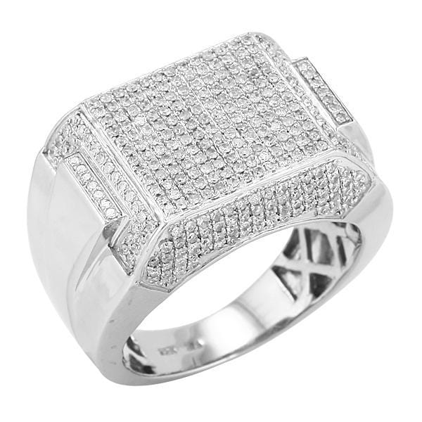 SS 1.50CTW Diamond Fancy Mens Ring Size 10, Ring, JJ-AG, Jawa Jewelers