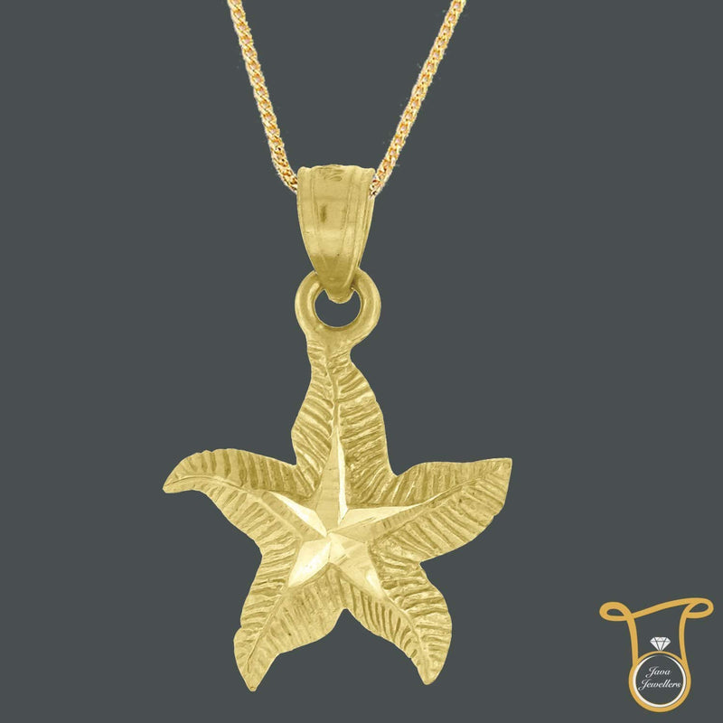 10kt Yellow Gold Starfish Animal Fashion Charm Pendant, Pendants, Silverine, Jawa Jewelers