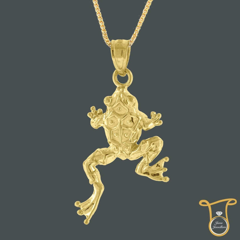 10kt Yellow Gold Frog Animal Fashion Charm Pendant, Pendants, Silverine, Jawa Jewelers