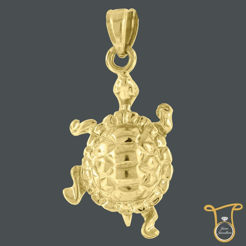10kt Yellow Gold Fashion Charm Turtle Animal Pendant, Pendants, Silverine, Jawa Jewelers