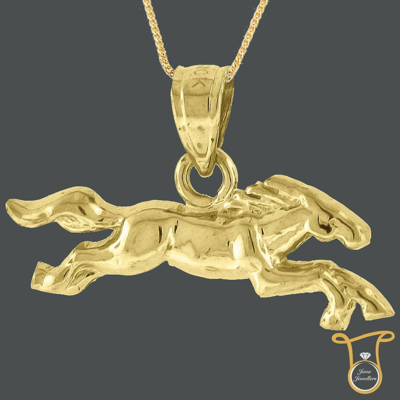 10kt Yellow Gold Horse Animal Fashion Charm Pendant, Pendants, Silverine, Jawa Jewelers