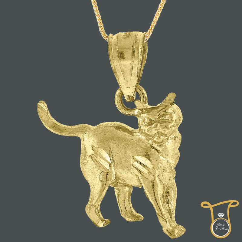 10kt Yellow Gold Kitty Cat Animal Fashion Charm Pendant, Pendants, Silverine, Jawa Jewelers