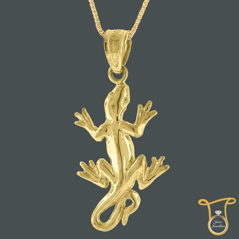 10kt Yellow Gold Lizard Animal & Insects Fashion Charm Pendant, Pendants, Silverine, Jawa Jewelers