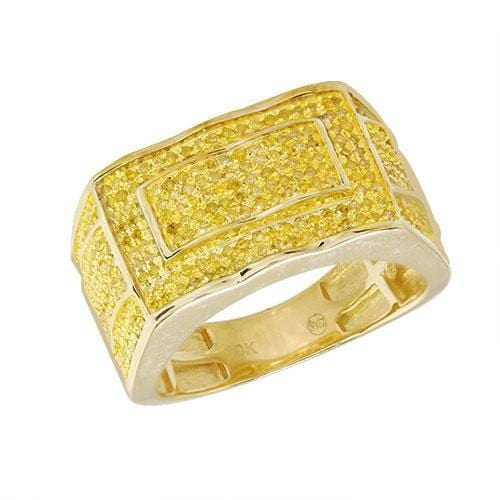 10K Gold 1.00CTW Yellow Diamond Mens Ring Size 10, Ring, JJ-AG, Jawa Jewelers
