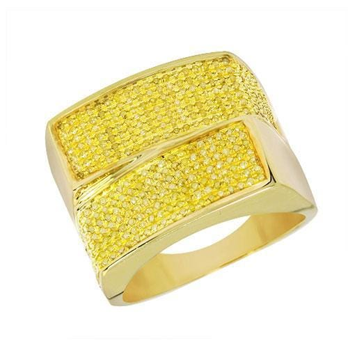 10K Yellow Gold 1.00CTW Yellow Diamond Mens Ring Size 10, Ring, JJ-AG, Jawa Jewelers