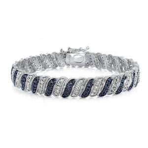 14K White Gold Plated Diamond 1.00CT Tennis Bracelet