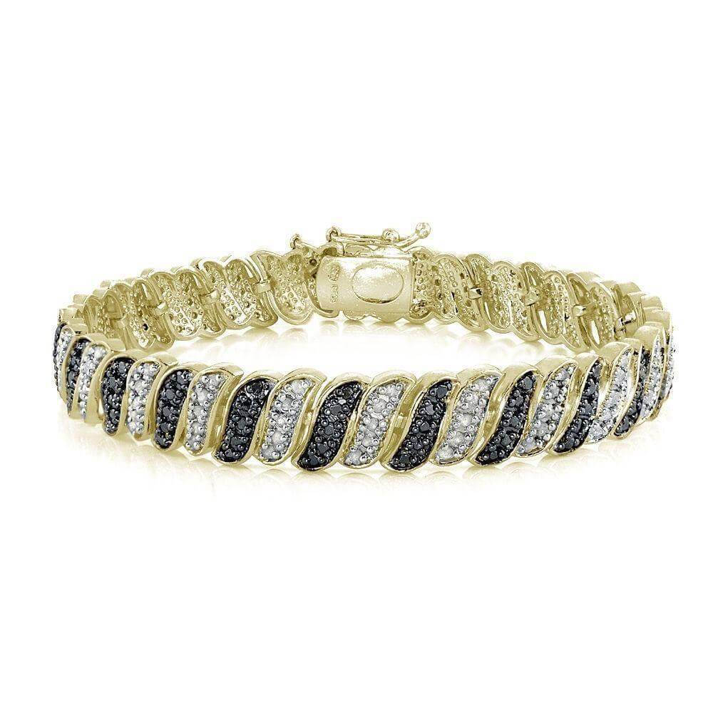 14K Yellow Gold Plated 1.00CT Diamond Tennis Bracelet