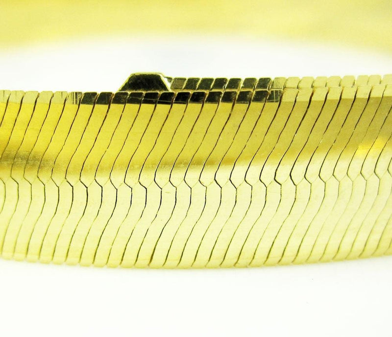 Yellow Gold Herringbone Bracelet