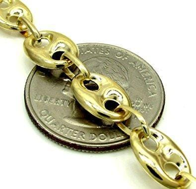 8MM gold puffed gucci link chain