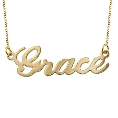 Customized Single Name Plate Pendant Necklace
