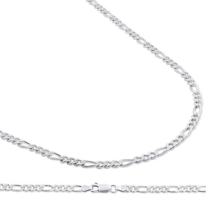 4.5MM 925 Sterling Silver Figaro Link Chain Necklace, , Jawa Jewelers, Jawa Jewelers