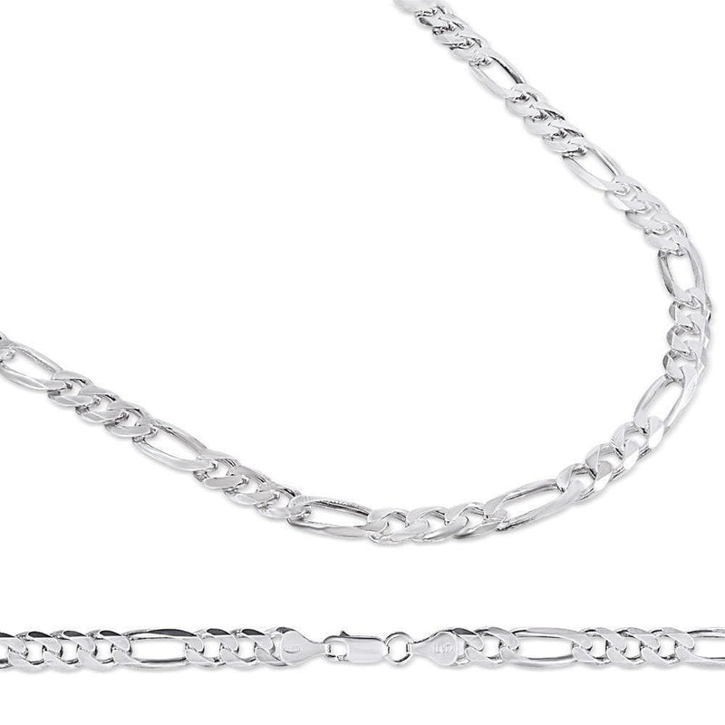 6.5MM 925 Sterling Silver Figaro Link Chain Necklace, , Jawa Jewelers, Jawa Jewelers