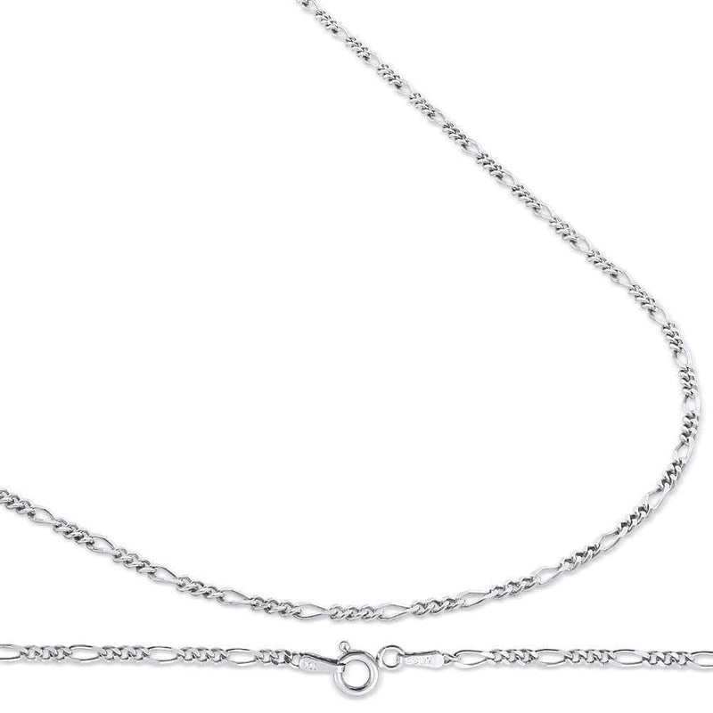 2.5MM 925 Sterling Silver Figaro Link Chain Necklace, , Jawa Jewelers, Jawa Jewelers