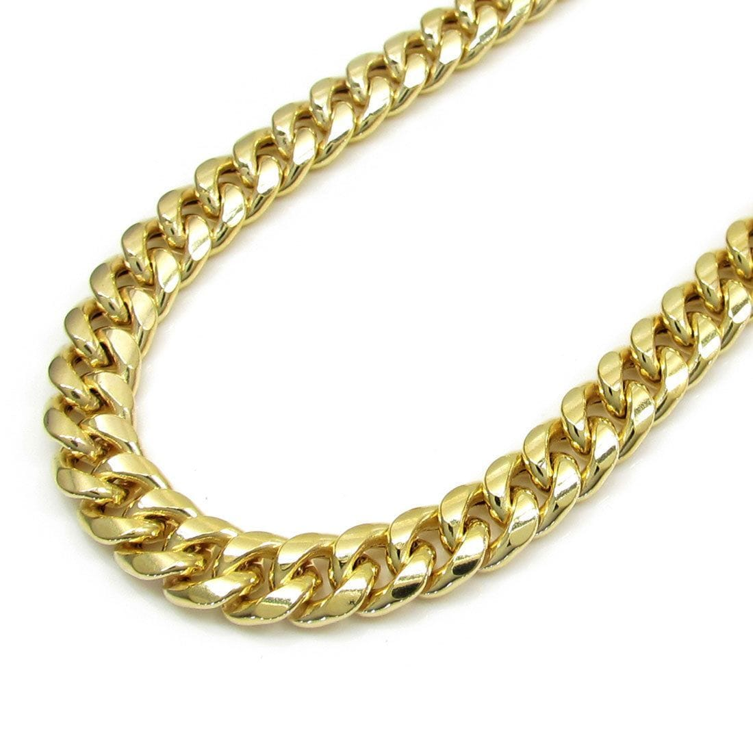 9MM 10K YELLOW GOLD MIAMI CUBAN LINK CHAIN NECKLACE 718022201a