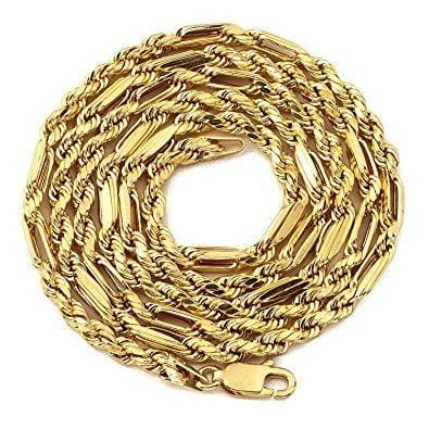 "10K Yellow Gold 4.5MM Hollow Milano Chain Necklace 18"" - 24"", Chain, JJ-AG, Jawa Jewelers"